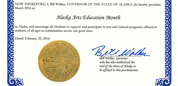 March Proclaimed Alaska Arts Education Month