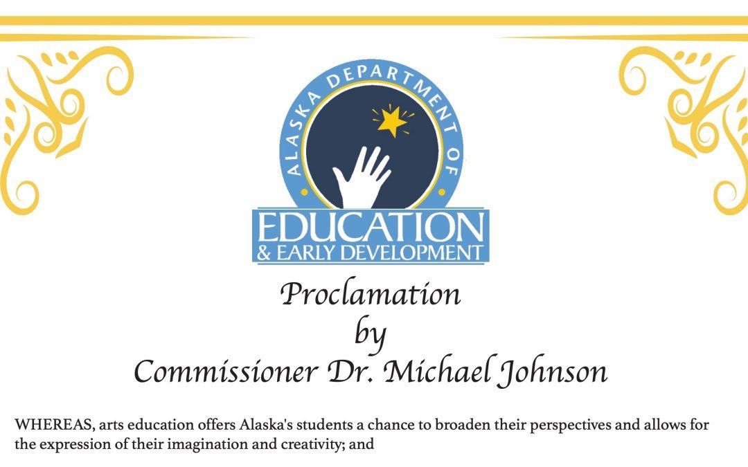March is Alaska's Arts Eduction Month…let's celebrate!
